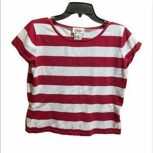 Talbots Medium Red & White Stripe Sweater